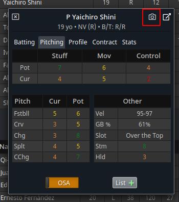 Player Popup Screenshot