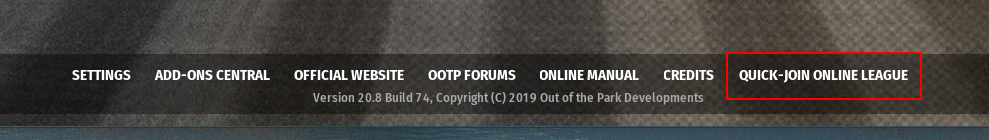 Quick Join Main Screen